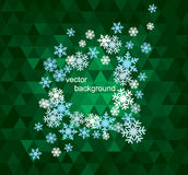Set of snowflakes background Stock Photography