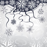 Set of snowflakes background. Vector illustration. Decorative festive winter background with snowflakes Stock Images