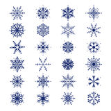 Set of snowflakes beautiful  Stock Image