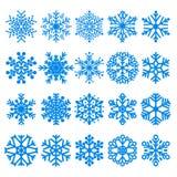 Set of snowflakes Stock Image