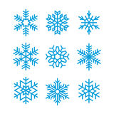 Set of  snowflakes Royalty Free Stock Images