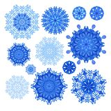 Set of  snowflakes for christmas decoration Stock Photography