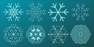 Set of Snowflakes Christmas design. Vector illustration stock illustration
