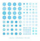 Set of snowflakes. Stock Photos