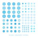 Set of snowflakes. stock illustration