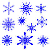 Set of snowflakes for Christmas Stock Photography