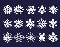 Set of  snowflakes Royalty Free Stock Image