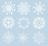 Set of snowflakes Stock Image