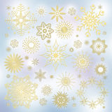 Set of snowflakes. Collection of snowflakes (set of snowflakes) illustration Royalty Free Stock Image