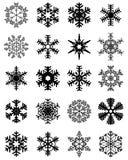 Set of snowflakes Stock Photo