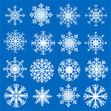Set of snowflakes. Set of different snowflakes for Christmas and new year backgrounds and your design Stock Images
