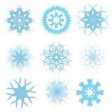 set snowflakes för blue vektor illustrationer
