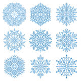 Set of Snowflakes. Fine winter ornament. Snowflakes collection. Snowflakes for backgrounds and designs Royalty Free Stock Image