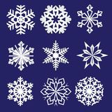 Set of snowflakes. Fine winter ornament. Snowflake collection. Vector illustration Royalty Free Stock Image