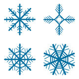A set of snowflakes Royalty Free Stock Photography
