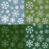 Set with snowflakes Stock Image