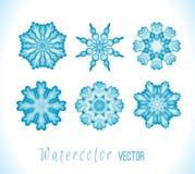 Set of snowflakes fractals or mandalas Stock Images