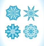 Set of snowflakes fractals or mandalas Royalty Free Stock Photography