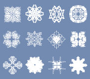 Set of 12 snowflakes Royalty Free Stock Photo