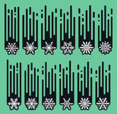 Set snowflakes of handmade. Snowflake Flat. Winter snow. Royalty Free Stock Images
