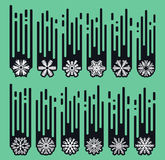 Set snowflakes of handmade. Snowflake Flat. Winter snow. Royalty Free Stock Photos