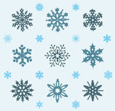 Set of snowflakes icons. Royalty Free Stock Images