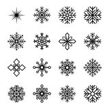 Set of snowflakes,  illustration. Collection of snowflakes,  illustration Stock Images