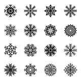 Set of snowflakes,  illustration. Collection of snowflakes,  illustration Stock Photo
