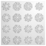 Set of snowflakes,  illustration Royalty Free Stock Photos