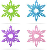 Set of snowflakes, isolated icons Royalty Free Stock Photography