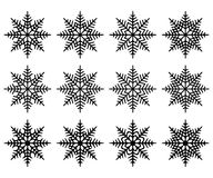 Set of snowflakes. Isolated. Stock Photos