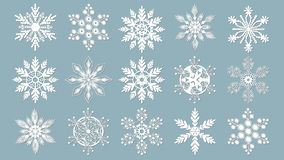 Set of snowflakes. Laser cut pattern for christmas paper cards, design elements, scrapbooking. Vector illustration royalty free illustration