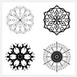Set of Snowflakes ,Merry Christmas Royalty Free Stock Images