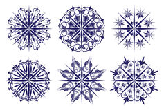 Set of snowflakes. New year christmas Stock Photography