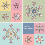 Set of snowflakes Stock Photo