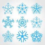 Set of snowflakes. royalty free stock photo
