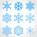 Set of snowflakes. stock image