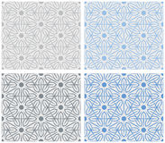 Set of snowflakes pattern Stock Photos