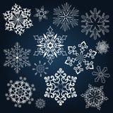 Set of snowflakes Royalty Free Stock Photo