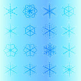Set of  snowflakes. snowflakes icon. Stock Images