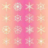 Set of  snowflakes. snowflakes icon. Stock Photos