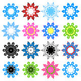 Set snowflakes. Stock Photo