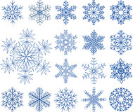 Set snowflakes vector Stock Photo