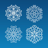 Set of snowflakes Stock Photos