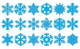 Set of snowflakes, vector illustration Royalty Free Illustration
