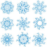 Set snowflakes. Vector illustration  Stock Photos