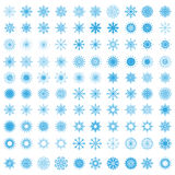 Set of 100 snowflakes Royalty Free Stock Image