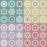 Set of snowflakes 2 Stock Images