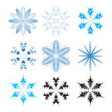 Set of snowflakes Royalty Free Stock Photo