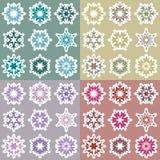 Set of snowflakes 2 Stock Photo